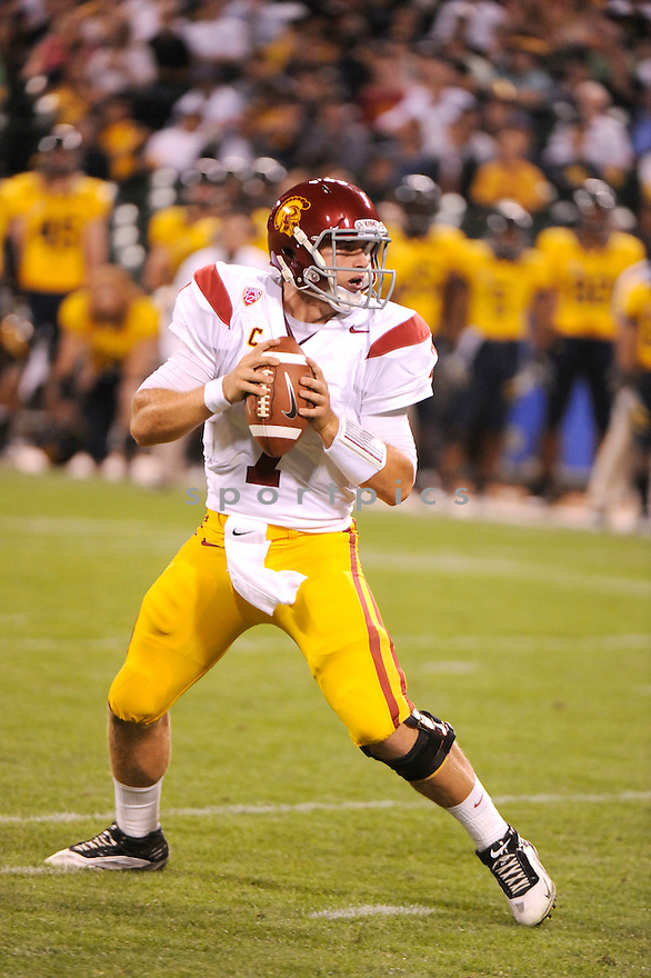 MATT BARKLEY, of the USC Trojans, in action during USC's game against the California Golden Bears on October 13, 2011 at AT&T Park in San Francisco, CA. USC beat Cal 30-9.