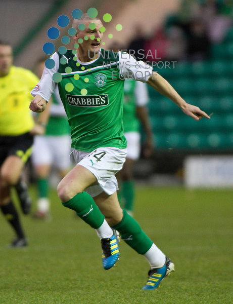 Hibernian v Kilmarnock, .William Hill Scottish Cup Fifth Round Tie..Martin Scott during the William Hill Scottish Cup Fifth Round Tie between Hibernian v Kilmarnock at Easter Road Stadium on Saturday 4th February 2012...Picture: Alan Rennie/Universal News and Sport (Scotland).