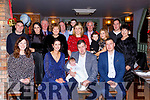 Killian Timothy Moynhan, Headford Killarney celebrated his christening with his parents TJ and Deirdre godparents Ciara Carey and Sean Moynihan and family in Kaynes bar on Saturday