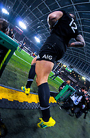 NZ's Sonny Bill Williams runs out for the Steinlager Series international rugby match between the New Zealand All Blacks and France at Forsyth Barr Stadium in Wellington, New Zealand on Saturday, 23 June 2018. Photo: Dave Lintott / lintottphoto.co.nz