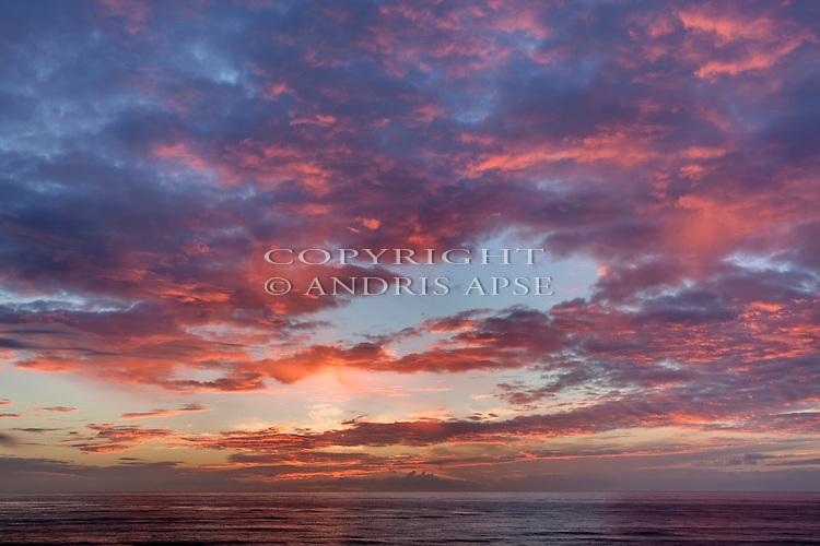 Sunset at Okarito. Westland Region.New Zealand.