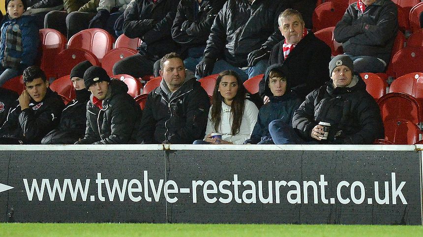 Fans<br /> <br /> Photographer Dave Howarth/CameraSport<br /> <br /> Football - The Football League Sky Bet League One - Fleetwood Town v Millwall - Tuesday 24th November 2015 - Highbury Stadium<br /> <br /> &copy; CameraSport - 43 Linden Ave. Countesthorpe. Leicester. England. LE8 5PG - Tel: +44 (0) 116 277 4147 - admin@camerasport.com - www.camerasport.com