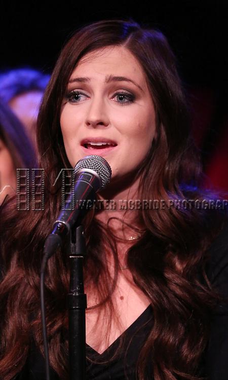 Brenna Bloom from the cast of 'One Day - The Musical' performing a sneak peek of the new pop-rock Musical at Rockwood Music Hall on January 28, 2015 in New York City.