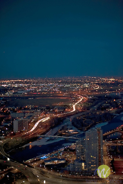 Calgary, Alberta, CAN. City at night.