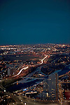 Calgary, Alberta, CAN. City at night.