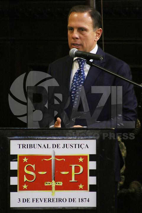 SÃO PAULO, SP, 06.02.2019: POLÍTICA-SP: João Doria, Governador de São Paulo, participa da abertura do Ano Judiciário, no Tribunal de Justiça, nesta quarta-feira, 6. ( Foto: Charles Sholl/Brazil Photo Press/Folhapress)