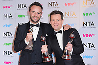 Ant &amp; Dec at the National Television Awards 2018 at the O2 Arena, Greenwich, London, UK. <br /> 23 January  2018<br /> Picture: Steve Vas/Featureflash/SilverHub 0208 004 5359 sales@silverhubmedia.com