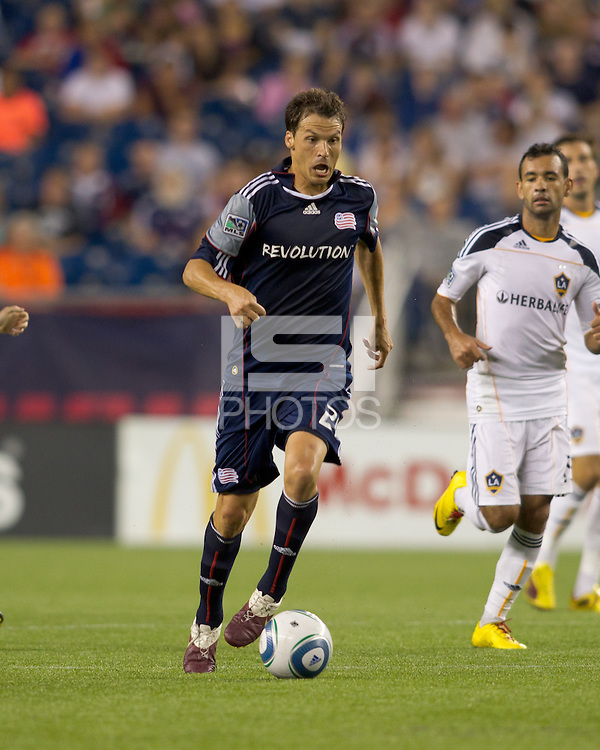 New England Revolution midfielder Marko Perovic (29) on the attack. The New England Revolution defeated LA Galaxy, 2-0, at Gillette Stadium on July 10, 2010.