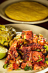 Ceviche De Pulpo. Traditional Mexican Ceviche made with octopus, tomatoes, onions, hot peppers, lime juice, oil and cilantro.    ©2016. Jim Bryant Photo. ALL RIGHTS RESERVED.