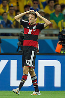 Thomas Muller of Germany looks dejected