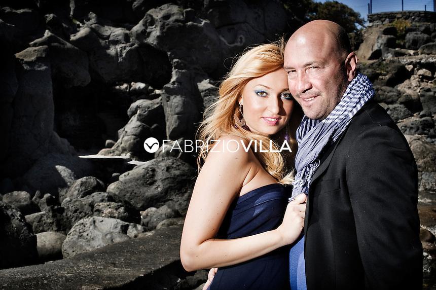 Walter Zenga con la moglie Raluca Rebedea  Foto Fabrizio Villa