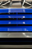 BNPS.co.uk (01202 558833)<br /> Pic: PhilYeomans/BNPS<br /> <br /> Electic blue rear slats.<br /> <br /> Back to the Future...finally!