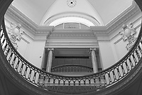 Atrium of the Vancouver Art Gallery, Vancouver, British Columbia, Canada. This was formerly the Provincial Courthouse. This neoclassical building was formerly the Provincial Courthouse.