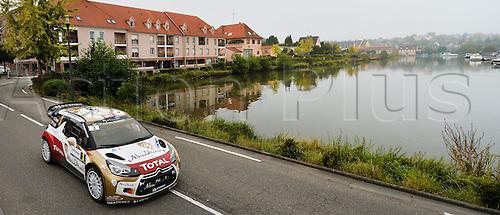 05.10.2014. Alsace Region, France. WRC Rally of France.  <br /> <br /> Kris Meeke (IRL) / Paul Nagle (GB) - Citroen DS3 WRC