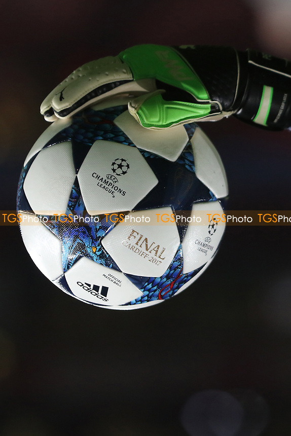 Champions League match ball during Arsenal vs FC Bayern Munich, UEFA Champions League Football at the Emirates Stadium on 7th March 2017