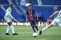 21st July 2020, Parc de Princes, Paris, France; Friendly club football, PSG versus Celtic;   NEYMAR JR of PSG clips the ball past Olivier NTCHAM of Celtic