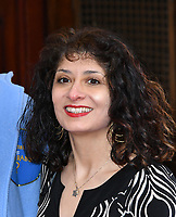 Shappi Khorsandi attends press performance of Where Is Peter Rabbit? musical following the beloved character Peter Rabbit and his friends in a story based on Beatrix Potter's magical world, at Theatre Royal Haymarket<br /> CAP/JOR<br /> &copy;JOR/Capital Pictures