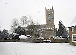 St Mary & St Edburga parish  church Stratton Audley oxfordshire covered in snow  18/1/2012