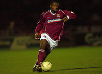 06/12/2003 - Photo  Peter Spurrier.FA Cup 2nd Rd - Northampton v Weston S Mare.Northampton Des Lyttle.