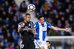 Danilo Luiz Da Silva of Real Madrid fights for the ball with Luciano Neves of Deportivo Leganes during their La Liga match between Deportivo Leganes and Real Madrid at the Estadio Municipal Butarque on 05 April 2017 in Madrid, Spain. Photo by Diego Gonzalez Souto / Power Sport Images