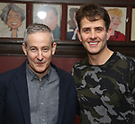 "Eddie Jamison and Joey McIntyre attends the photocall for Joey McIntyre and Eddie Jamison join the cast of Broadway's ""Waitress"" at Sardi's on January 29, 2019 in New York City."