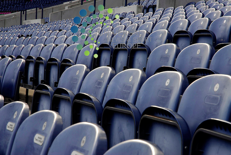 Murrayfield is prepared ahead of the Scotland v Italy Six Nations match at the weekend..