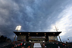 18 April 2015: Dark clouds fly over the stadium before the game. The Carolina RailHawks hosted the Atlanta Silverbacks at WakeMed Stadium in Cary, North Carolina in a North American Soccer League 2015 Spring Season match. Atlanta won the game 2-1.