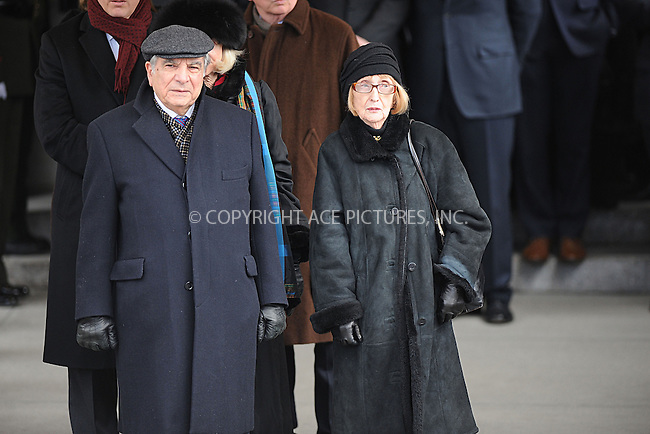 WWW.ACEPIXS.COM . . . . . .February 4, 2013...New York City....Koch family following funeral services at Manhattan's Temple Emanu-El on February 4, 2013 in New York City.....Please byline: KRISTIN CALLAHAN - WWW.ACEPIXS.COM.. . . . . . ..Ace Pictures, Inc: ..tel: (212) 243 8787 or (646) 769 0430..e-mail: info@acepixs.com..web: http://www.acepixs.com .