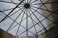 UK. London. 17th July 2010.A skylight in Brixton's covered market..©Andrew Testa for the New York Times