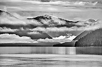 Fog rising over the Skeena River east of Prince Rupert<br />