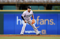 Jupiter Hammerheads second baseman Rafael Furcal (7), on rehab assignment from the Miami Marlins, during a game against the Bradenton Marauders on April 19, 2014 at McKechnie Field in Bradenton, Florida.  Bradenton defeated Jupiter 4-0.  (Mike Janes/Four Seam Images)