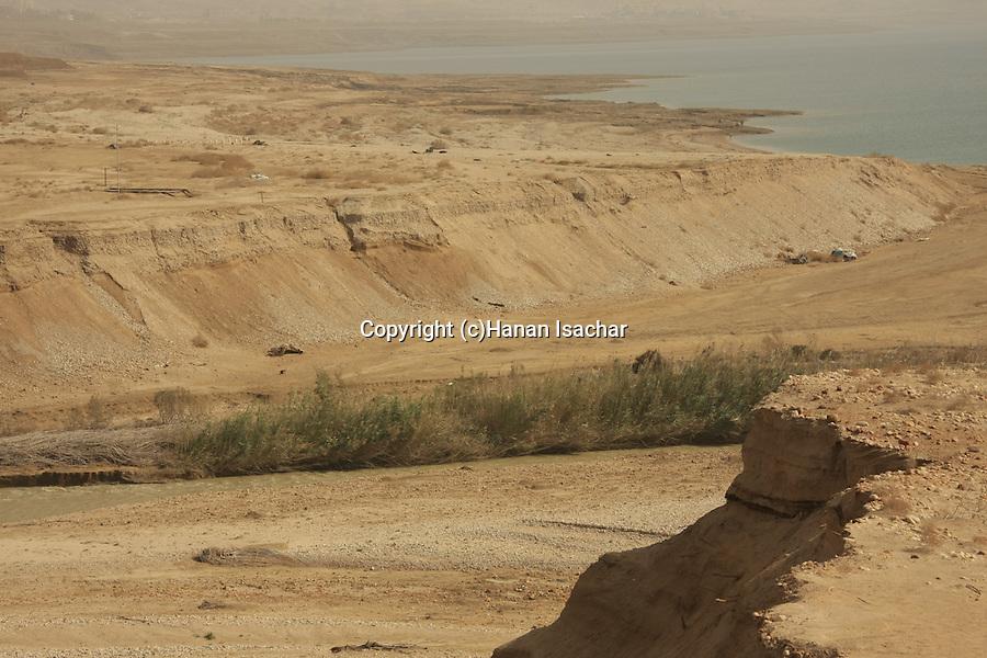 Dead Sea Valley, Jordan River estuary at the Dead Sea