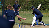 Cricket Scotland - Scotland training at Ayr CC ahead of this week's 4 day Intercontinental Cup match against Namibia - the match begins tomorrow (Tuesday) with an 11am start on each day - intense concentration from Scotland captain Kyle Coetzer in the nets - picture by Donald MacLeod - 05.06.2017 - 07702 319 738 - clanmacleod@btinternet.com - www.donald-macleod.com