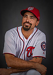 22 February 2019: Washington Nationals third baseman Anthony Rendon poses for his Photo Day portrait at the Ballpark of the Palm Beaches in West Palm Beach, Florida. Mandatory Credit: Ed Wolfstein Photo *** RAW (NEF) Image File Available ***