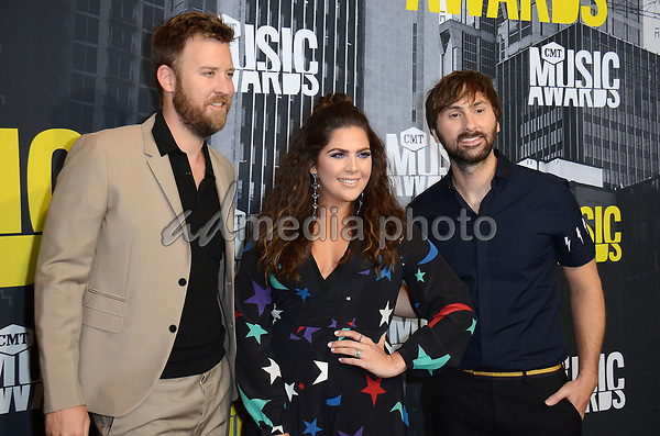 07 June 2017 - Nashville, Tennessee - Charles Kelley, Hillary Scott, Dave Haywood, Lady Antebellum. 2017 CMT Music Awards held at Music City Center. Photo Credit: Tonya Wise/AdMedia