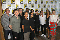 SAN DIEGO - July 21:  The cast of Inhumans at Comic-Con Friday 2017 at the Comic-Con International Convention on July 21, 2017 in San Diego, CA