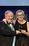 Paddie Keogh, representing John O'Brien receives the runner-up award for Best Musical Director / Gilbert Section for 'Me &amp; My Girl from Colm Moules, President, AIMS, Association of Irish Musical Societies, in the INEC, KIllarney at the weekend.<br /> Photo: Don MacMonagle -macmonagle.com<br /> <br /> <br /> <br /> repro free photo from AIMS<br /> Further Information:<br /> Kate Furlong AIMS PRO kate.furlong84@gmail.com