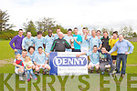 TOP TEAM: The L. B. Rovers team celebrating their Denny division 1B league title win at Mounthawk park, Tralee on Sunday.