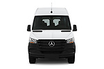 Car photography straight front view of a 2019 Mercedes Benz Sprinter-Crew-Van Base 4 Door Combi