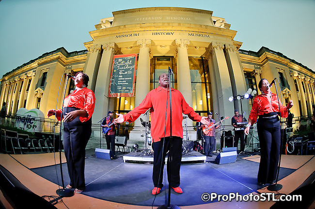 PowerPlay Band in concert during Twilight Tuesdays series at Missouri History Museum in St. Louis, MO on Oct 12, 2010.