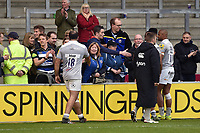 Bath Rugby players meet with supporters after the match. Aviva Premiership match, between Sale Sharks and Bath Rugby on May 6, 2017 at the AJ Bell Stadium in Manchester, England. Photo by: Patrick Khachfe / Onside Images