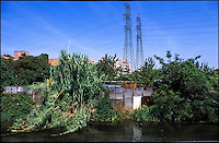Milano, quartiere Adriano, periferia nord. Orti lungo il Naviglio Martesana --- Milan, Adriano district, north periphery. Small vegetable garden along the canal Naviglio Martesana