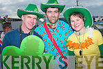 Enjoying the fine weather and the St. Patrick's day parade in Caherciveen were Mark O'Neill, Frank O'Donoghue and Karolien Verheyen...   Copyright Kerry's Eye 2008