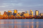 Back Bay Reflected in the Charles River at sunset, Boston, MA, USA