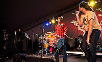 Red Baraat playing at the 2011 Voodoo Festival in New Orleans, LA.