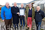 Tralee Community Allotments receiving their Vibrancy Recognition Programme Award from Kerry Group and NEWK on Monday.<br /> L to r: Donal Tobin (Tralee Community Allotments), Frank Hayes (Kerry Group), Eamon O'Riley (NEKW), Peter Colloran and Tim McSweeney (Tralee Community Allotments).