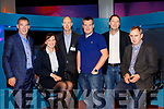A panel of entrepreneurs and business leaders including JT O'Sullivan, CEO, BioAtlantis, Aoífe Ní Mhuírí, Salaso, Mike Stack, CEO, Tricel, Guest Speaker, Daniel Mackey, co-founder of Teamwork.com, EY Entrepreneur of the Year 2018; ; Mike Fitzgerald, CEO, Netfeasa, and Jerry Kennelly, CEO, Tweak.com pictured at Kerry ETB Momentum 2019 with Kerry SciTech, on Friday last.