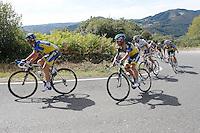 Bruno Pires, Sergio Paulinho and Alberto Contador during the stage of La Vuelta 2012 between Palas de Rei and Puerto de Ancares.September 1,2012. (ALTERPHOTOS/Paola Otero) NortePhoto.com<br /> <br /> **CREDITO*OBLIGATORIO** <br /> *No*Venta*A*Terceros*<br /> *No*Sale*So*third*<br /> *** No*Se*Permite*Hacer*Archivo**<br /> *No*Sale*So*third*