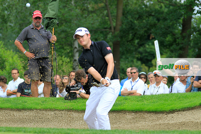 Gary Boyd (ENG) chips out of a bunker onto the 17th green during the Final Day of the BMW Italian Open presented by Carta Si at Royal Park I Roveri, Turin, Italy, 12th June 2011 (Photo Eoin Clarke/Golffile 2011)