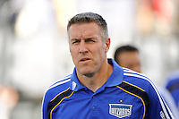 Kansas City Wizards manager Peter Vermes. The Philadelphia Union and the Kansas City Wizards played to a 1-1 tie during a Major League Soccer (MLS) match at PPL Park in Chester, PA, on September 04, 2010.